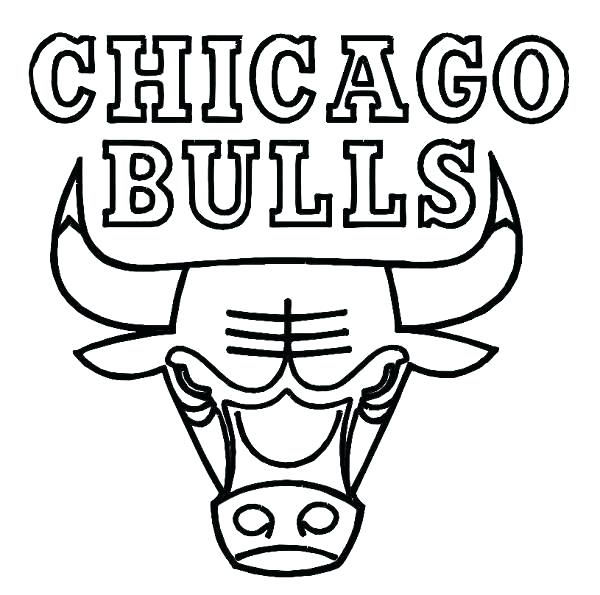 600x595 Chicago Bulls Coloring Pages Bulls Basketball Coloring Pages