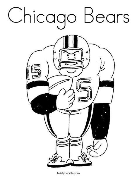 468x605 Chicago Bears Coloring Page