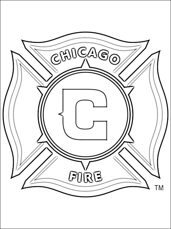 560x750 Chicago Fire Soccer Club Coloring Page Coloring Pages