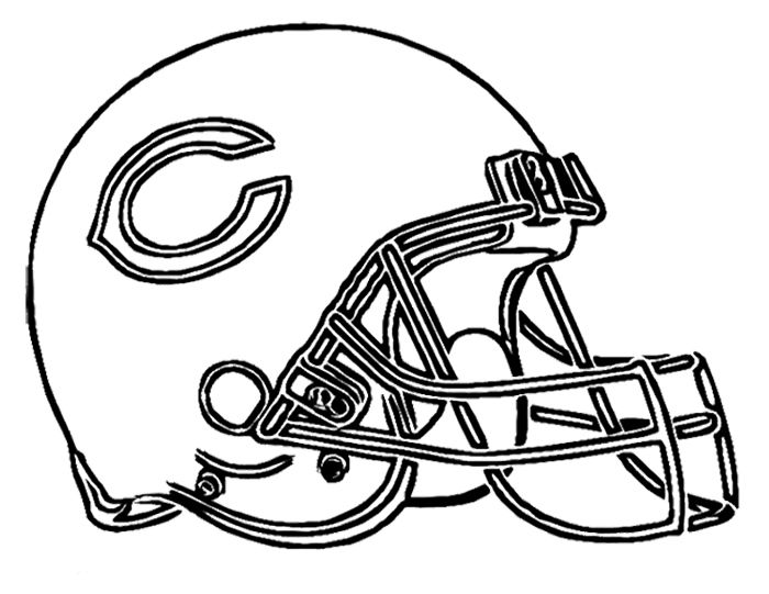 700x541 Football Helmet Chicago Bears Coloring Page Kids Coloring Pages