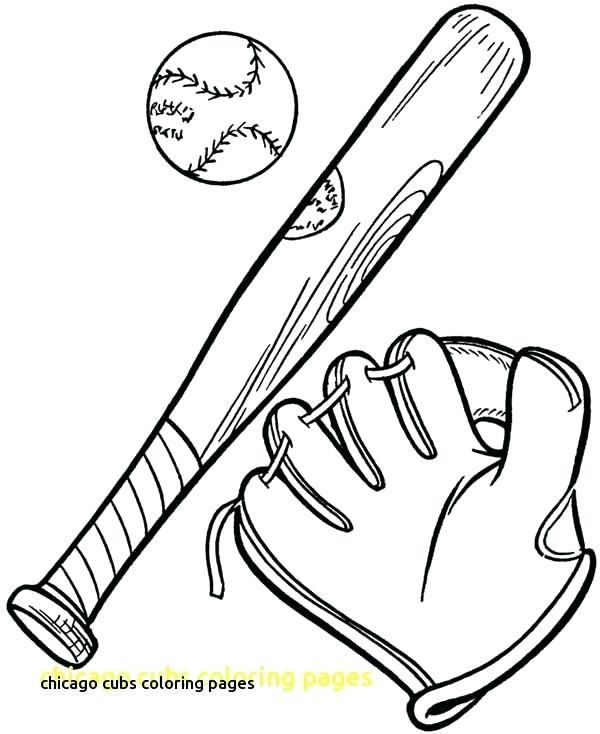 600x734 Chicago Cubs Coloring Pages Game Chicago Cubs Mascot Coloring