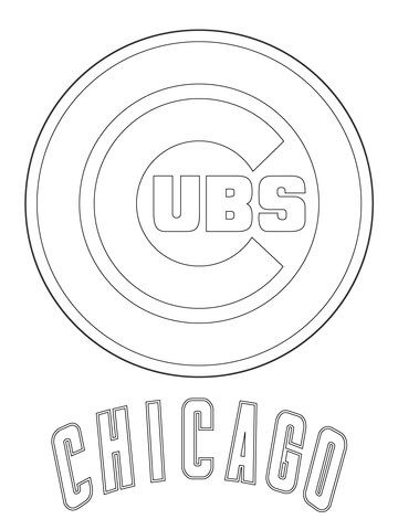 360x480 Chicago Cubs Logo Coloring Page Mlb Category Select