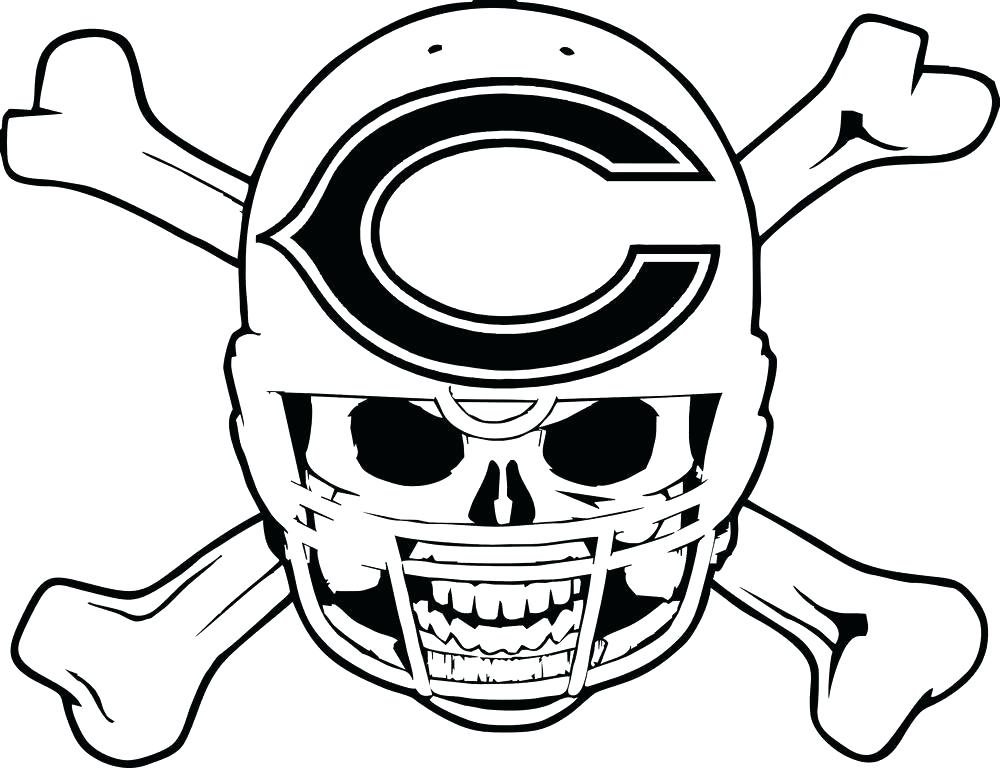 1000x768 Chicago Bears Coloring Pages Cubs Logo Coloring Page Chicago Bears