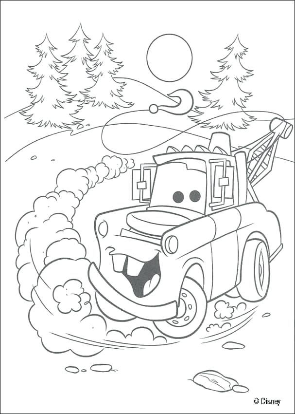 607x850 Chick Hicks Coloring Page Beautiful Coloring Page Of Mater