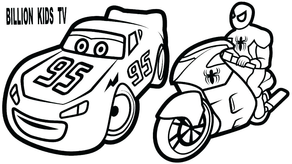 970x546 Lightning Mcqueen Chick Hicks Coloring Pages Page Track Race
