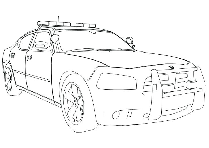 728x515 Lightning Mcqueen Chick Hicks Coloring Pages Police Car Page Cars