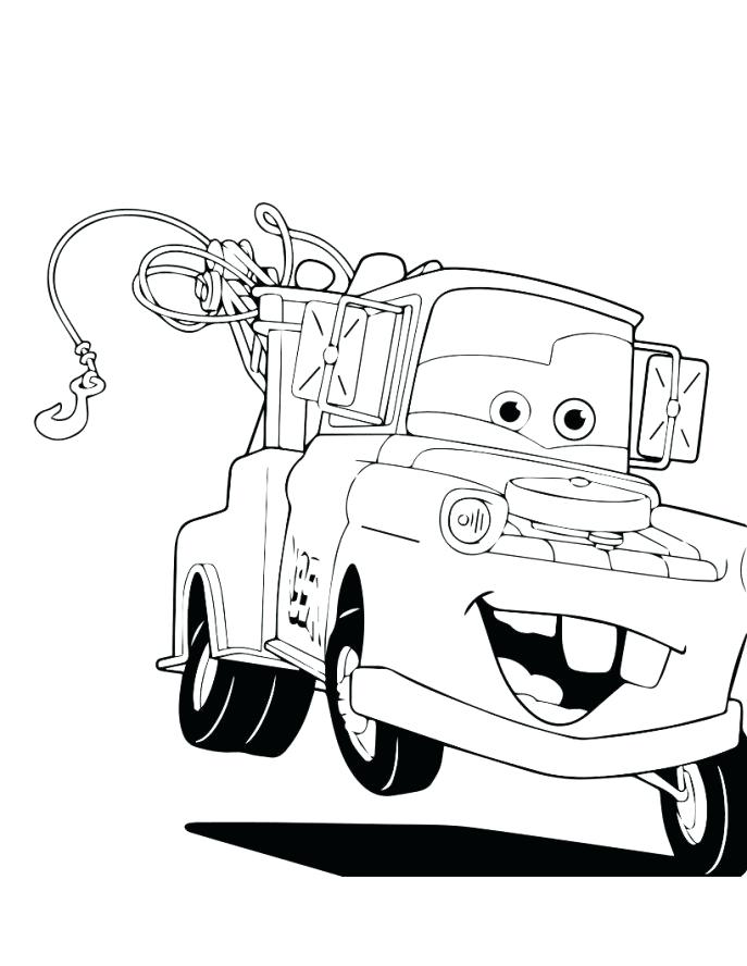 687x888 Chick Hicks Coloring Page