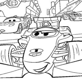 268x268 Cars Coloring Pages Chick Hicks Archives