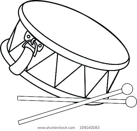 450x430 Drum Coloring Pages Drum Coloring Page Drums Coloring Page Drum