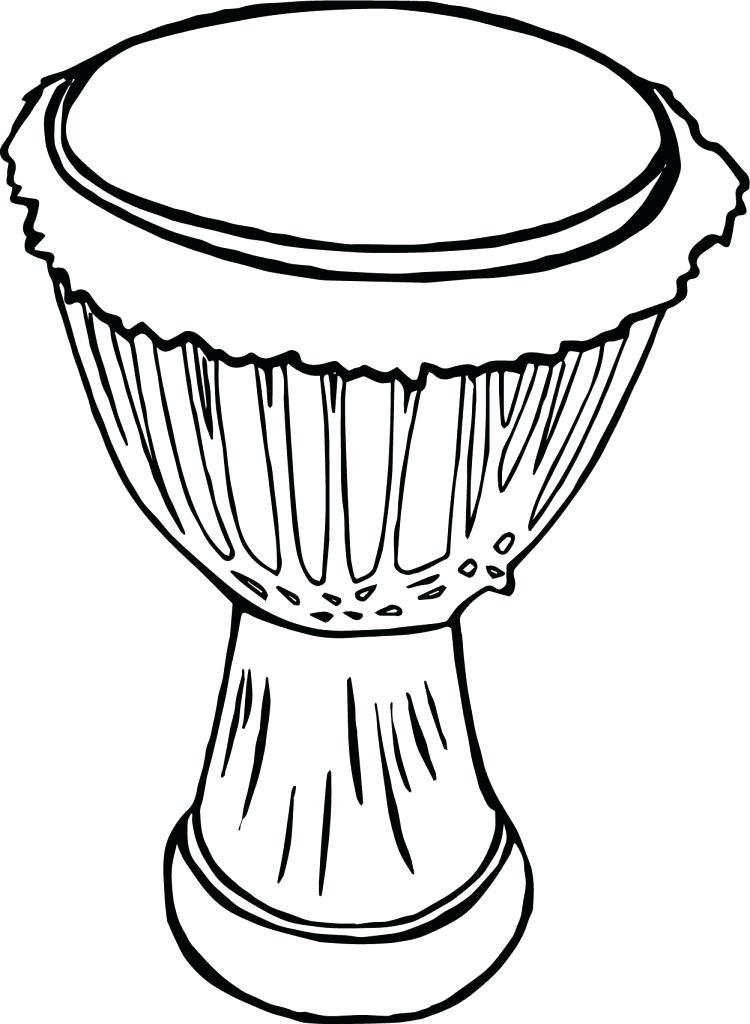 750x1024 Drum Coloring Pages Drum Kit Coloring Page Drums Free Printable