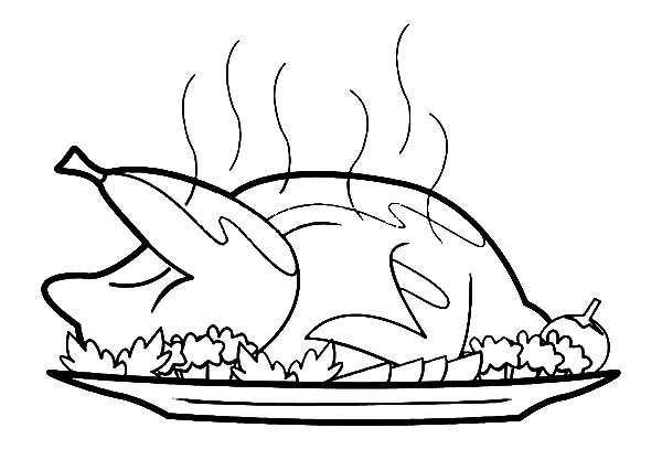 600x407 Hot Fried Chicken Coloring Pages
