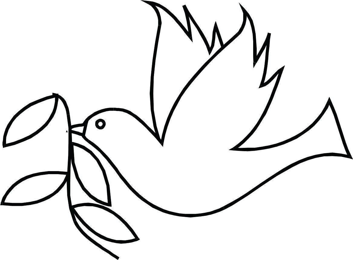 1167x860 Chicken Drumstick Outline Coloring Pages Of A Dove Free Download