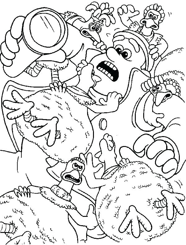 600x792 Chicken Run Coloring Pages Chicken Little Pictures Coloring Pages