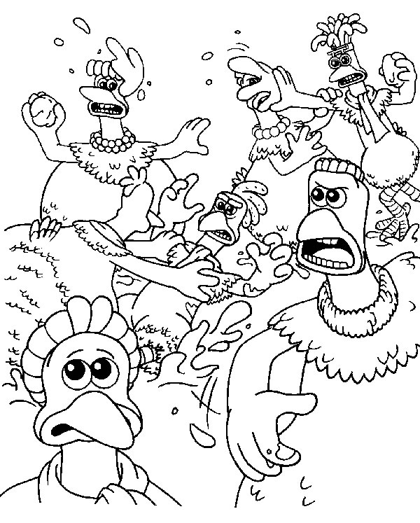 600x747 Coloring Page Chicken Run