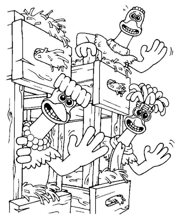 600x733 Chicken Run Characters Waving Their Hands Coloring Pages Batch