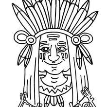 220x220 Indian Chief Coloring Pages