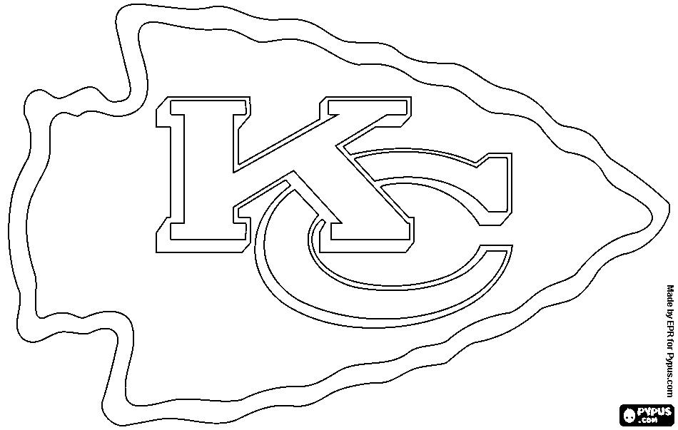 950x603 Kansas City Chiefs Logo Coloring Page