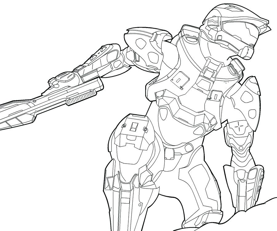 900x750 Master Chief Coloring Pages Master Chief