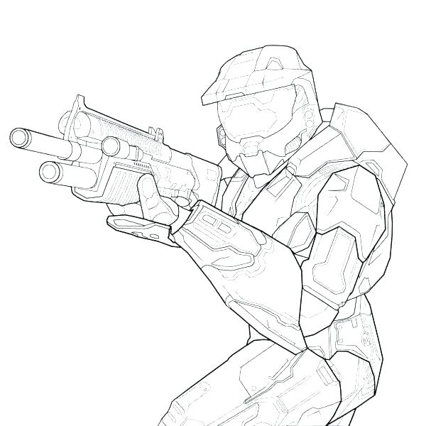 600x600 Coloring Halo Master Chief Coloring Pages