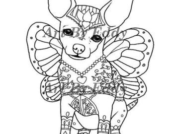 chihuahua coloring pages at getdrawings free