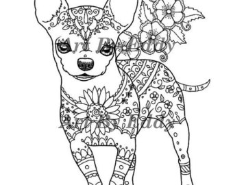 Chihuahua Puppy Coloring Pages At Getdrawings Free Download