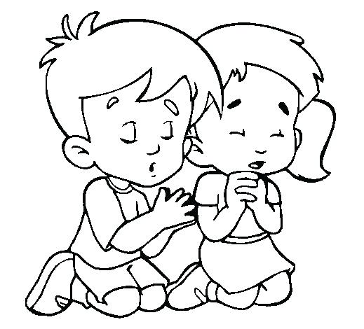 519x470 Child Coloring Page Coloring Pages Coloring Page Of Child Praying