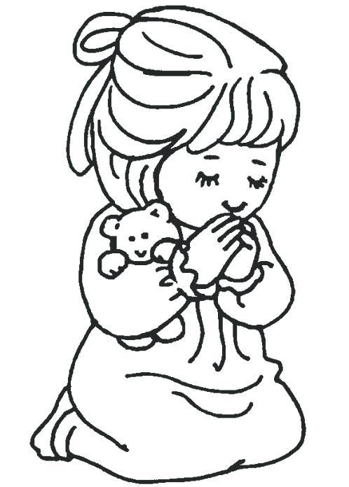 498x696 Child Praying Coloring Page Lds Children Panda Free Images