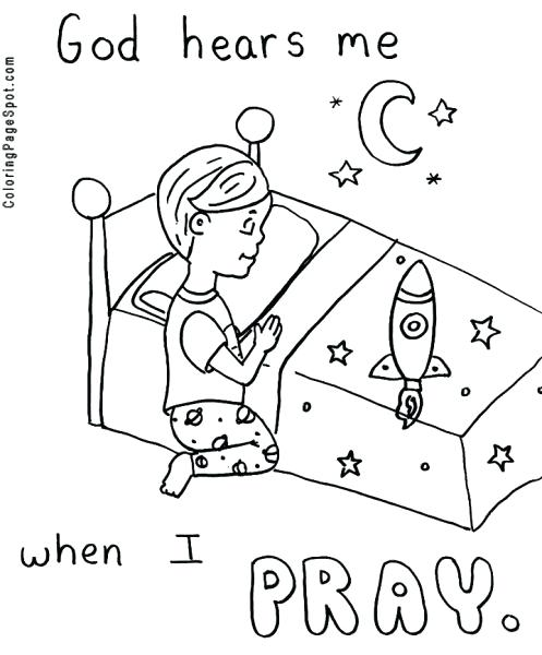 497x600 Child Praying Coloring Page Prayer Coloring Pages Catholic Lord S