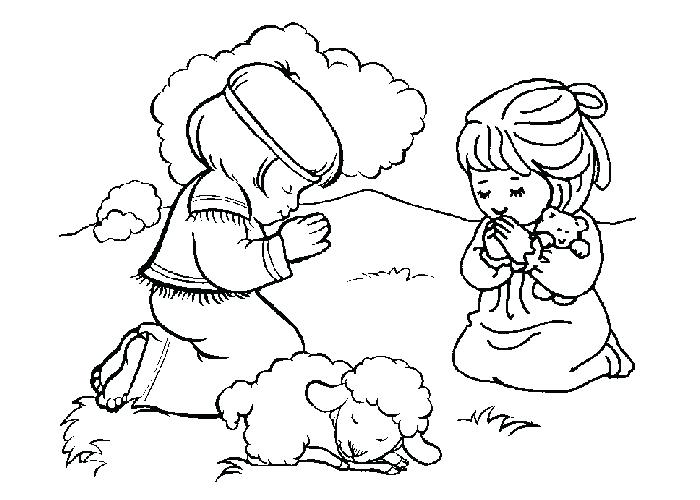 700x500 Children Praying Coloring Page Christian Coloring Pages