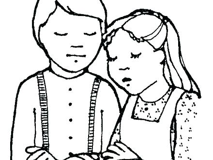 440x330 Children Praying Coloring Page Terrific Children Praying Coloring
