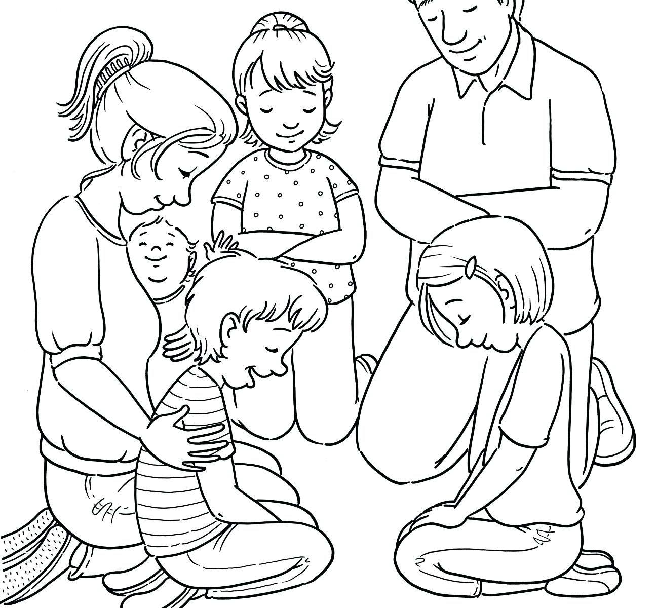 1295x1200 Launching Child Praying Coloring Page Prayer F