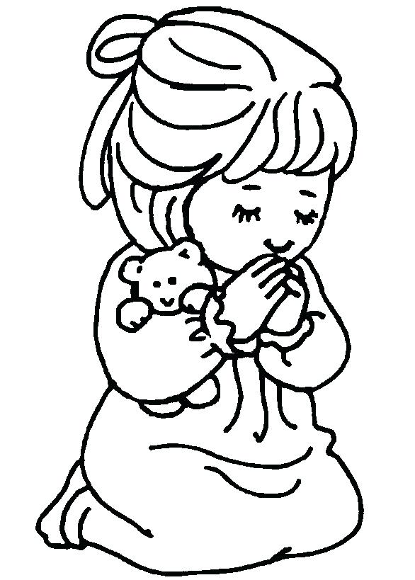 586x819 Prayer Coloring Pages Prayer Coloring Page Catholic Prayer