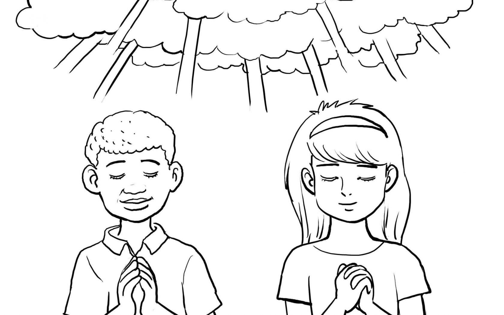 1680x1050 Unusual Child Praying Coloring Page Mantis Col