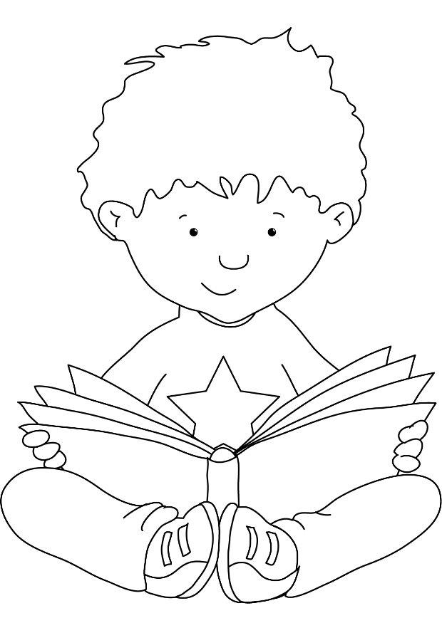 620x875 Coloring Pages Child Reading Bible Child Reading Coloring Page
