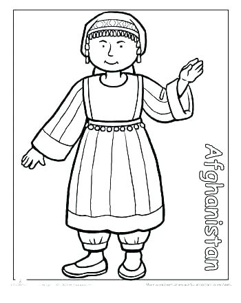 350x440 Different Coloring Pages Children Around The World Coloring Pages