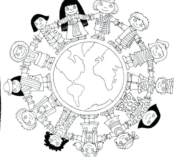 678x600 Around The World Coloring Pages Children Around The World Coloring
