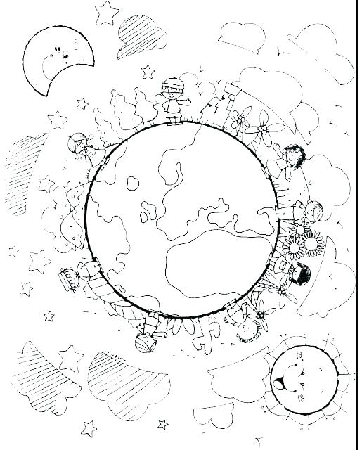515x640 Globe Coloring Pages Globe Coloring Pages Children Of The World
