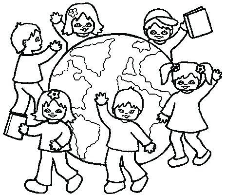 462x400 Kids Around The World Coloring Pages Children Of The World