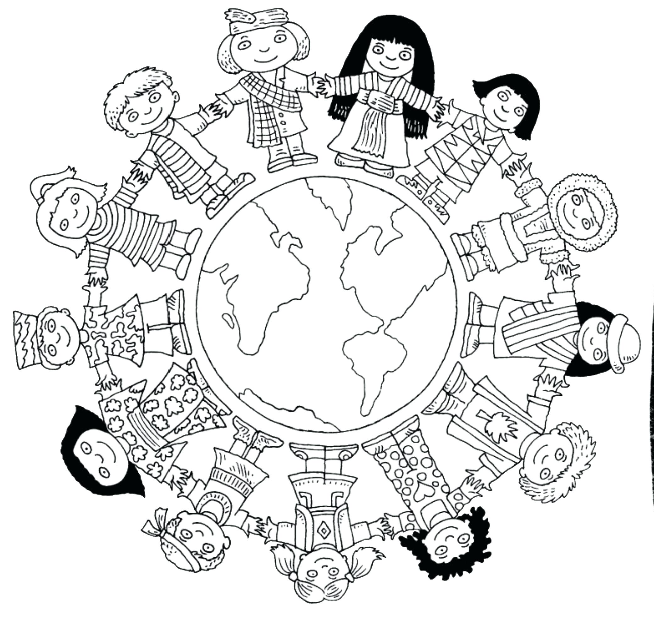 2080x1984 Liberal Children Around The World Coloring Page Chinese