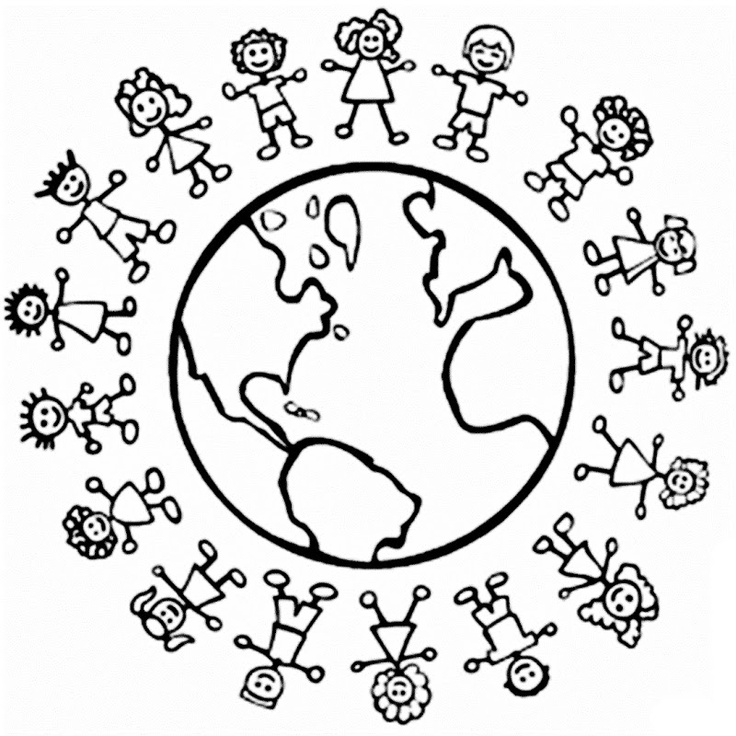 736x736 World Coloring Pages Printable The World Coloring Pages Children