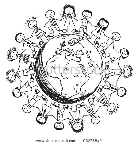 450x470 Children Around The World Coloring Pages Children Around The World