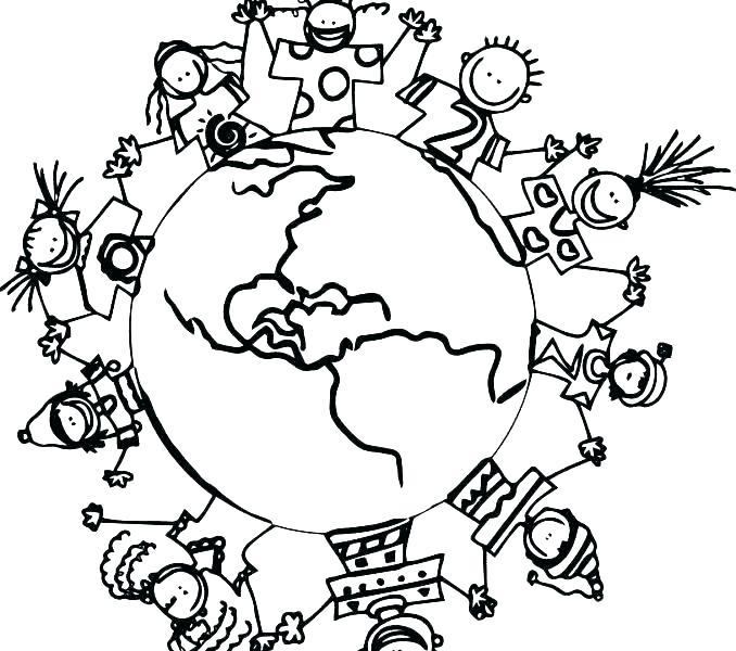 678x600 Children Around World Coloring Pages Children From Around