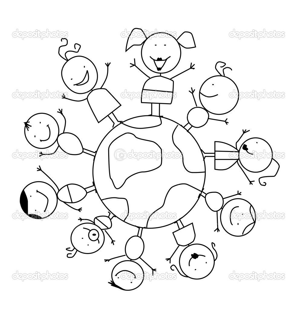 982x1024 Children Around The World Coloring Pages Free Download Of For You
