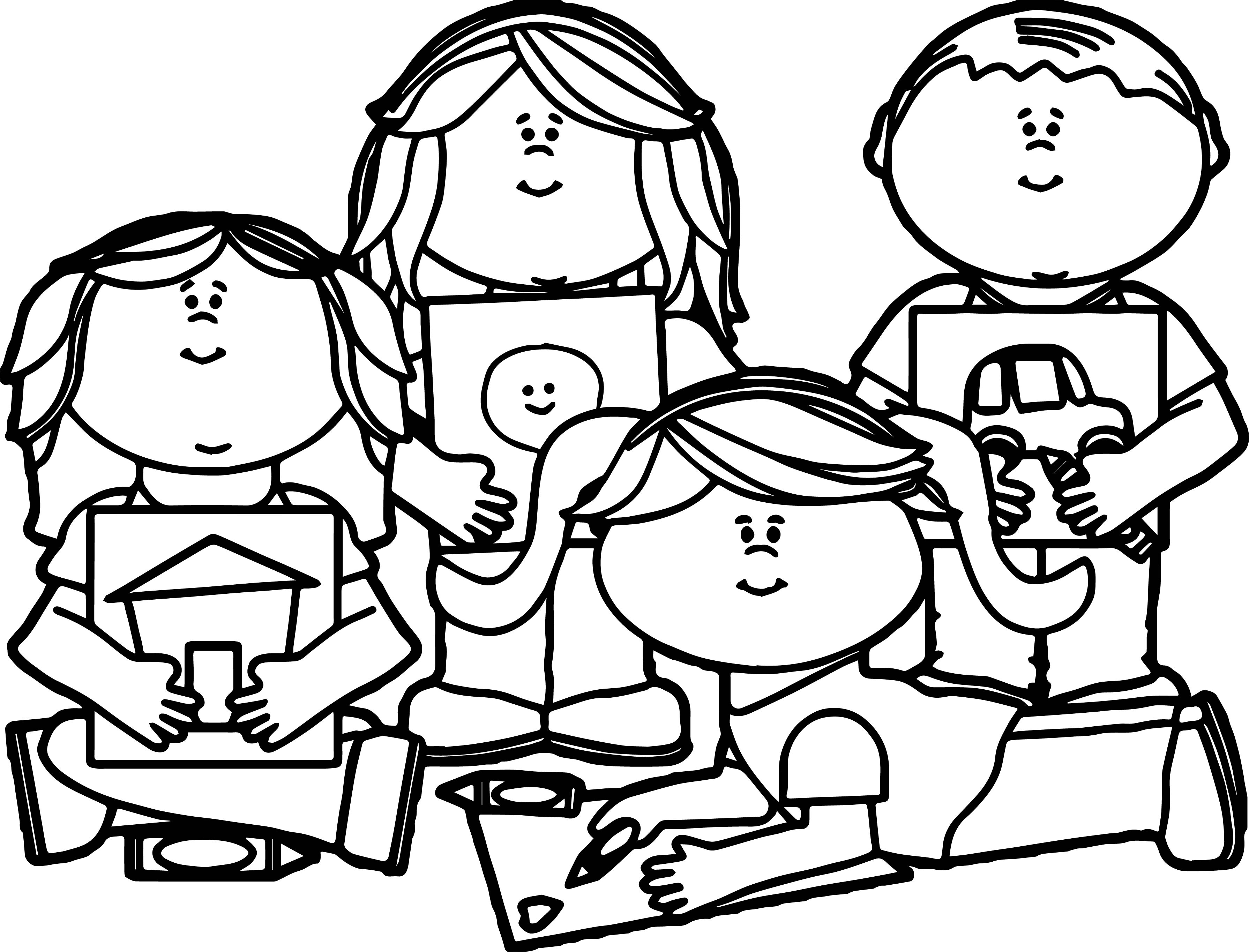 3580x2729 Kid School Coloring Pages