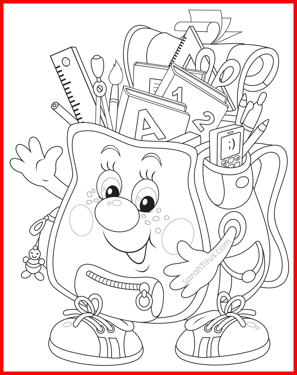 1213x1528 Unbelievable Back To School Coloring Pages Colors And Craft Pic