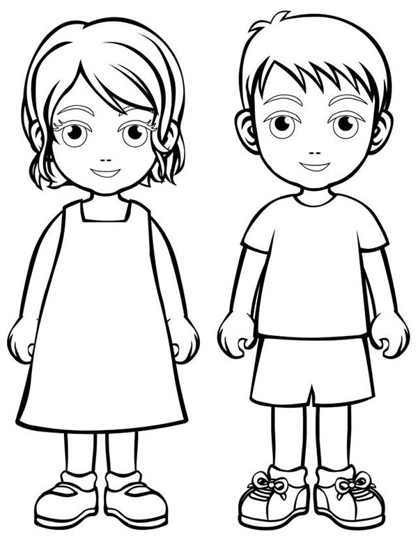 600x776 Coloring Pictures Of Children Free Coloring Page