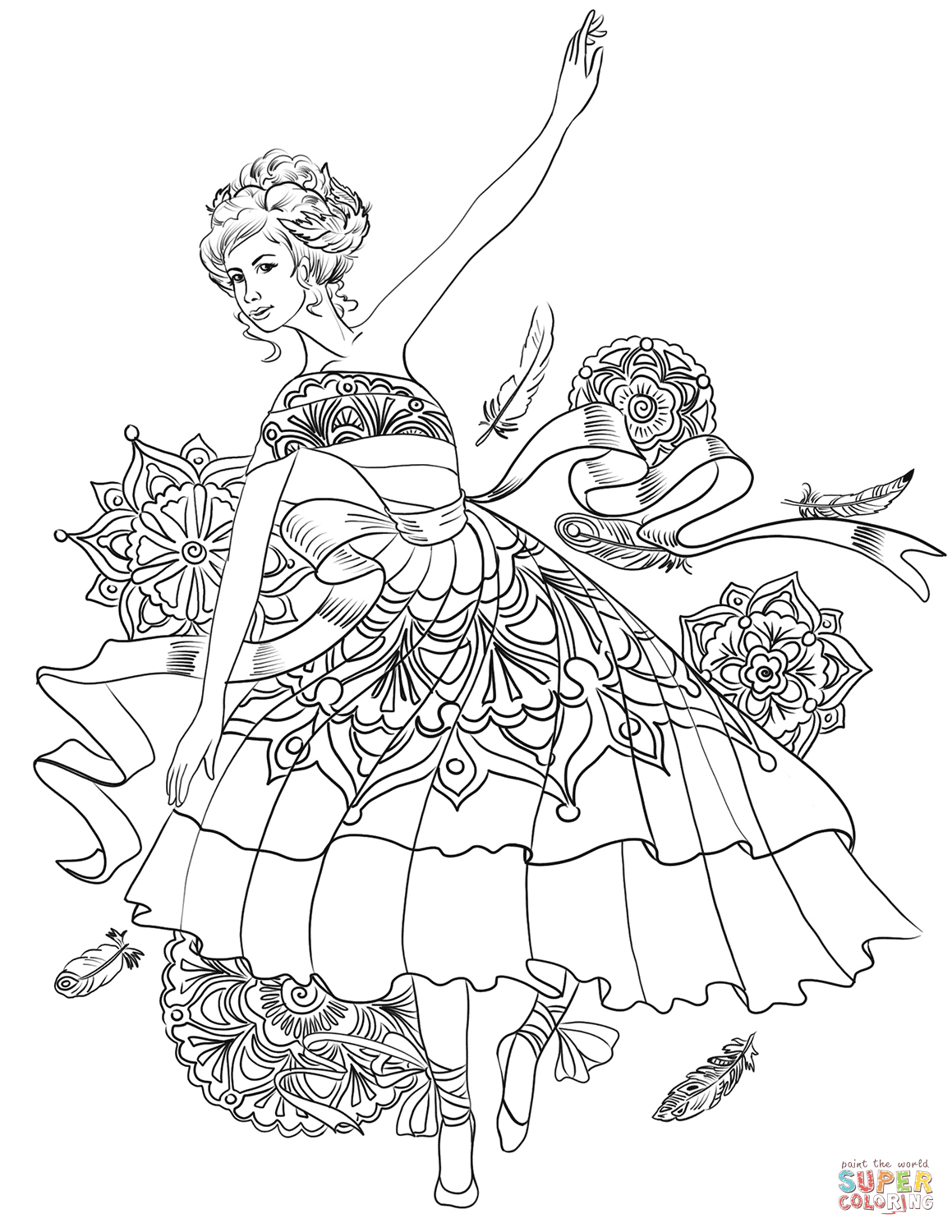 1159x1500 Free Printable Ballet Dancer Colorings For Kids Coloring Pages