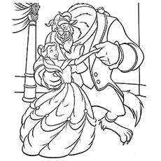 230x230 Top Free Printable Beauty And The Beast Coloring Pages Online