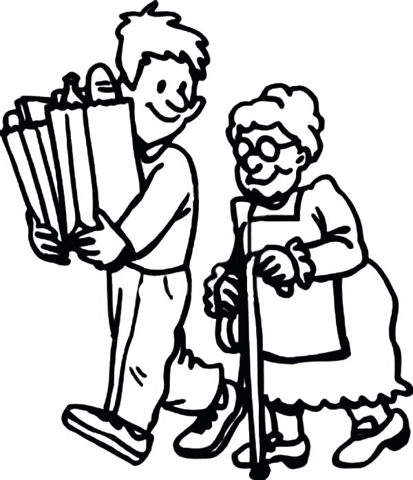 600x698 Helping Others Coloring Pages Helping Others