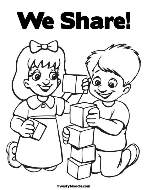468x605 Children's Sharing Coloring Pages Color Bros